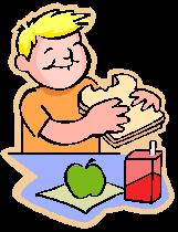 child having lunch